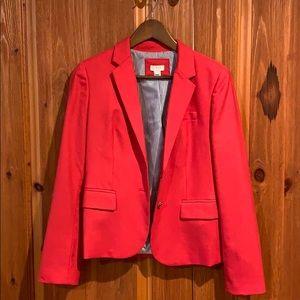 Red J.Crew blazer